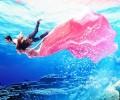 水下拍摄注意的特征使婚纱照更唯美