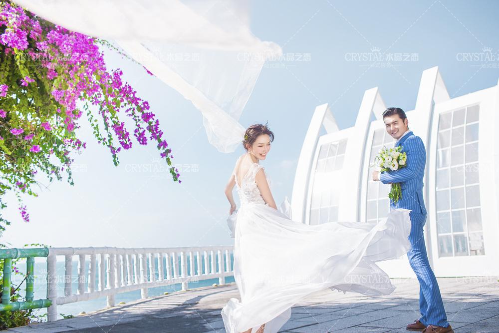 三亚婚纱摄影哪家好?-北京水晶之恋婚纱摄影